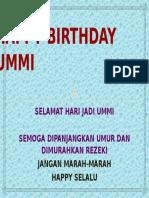Happy Birthday Ummi Hana Buat