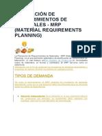 Planeación de Requerimientos de Materiales (Autoguardado)