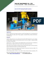 DGP50-C DGP60-C DGP70-B Floating Fish Pellet Mill