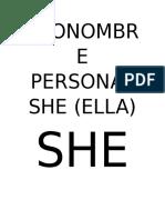 Pronombre Personal She