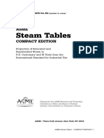 Steam Table ASME