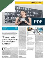 """""""Uso el arte para expresar tecnologías futuras"""", Katia Cánepa"""