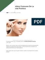 5 Malentendidos de La Actitud Mental Positiva