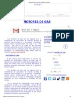 Motores de Gas Explicación Ventajas y Desventajas
