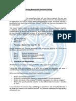 Training Manual on Resume Writing