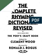 Rhyming Dictionary pdf   Métrica (Poesia)   Poesia