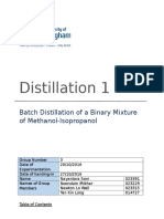 Batch Distillation Laboratory Report