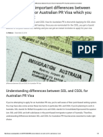 The Major Differences Between SOL & CSOL for Australian PR Visa That Cannot Be Overlooked
