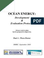 HMRC-Ocean Energy Development and Evaluation Protocal