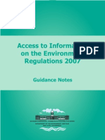 Access to Information on the Environment Regulations - guidance notes