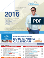ASME Training and Development-Spring-Calender