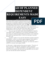 Upload of Planned Independent Requirements Made Easy v0