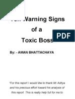 Ten Warning Signs of a Boss