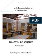 Bulletin de Rentree 2010