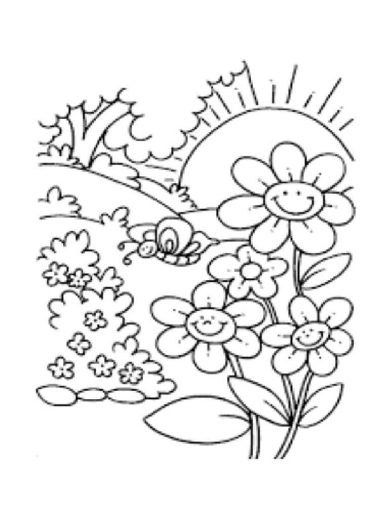 Mewarnai Bunga Dan Matahari Pdf