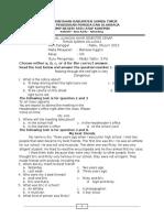 Soal Ujian Semester Kelas 8