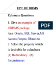 Concept of Dbms