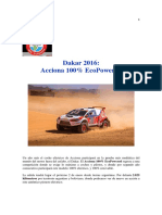 -Dakar 2016 Coche Eléctrico