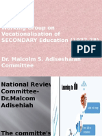 Dr. Malcolm S. Adiseshaiah Committee