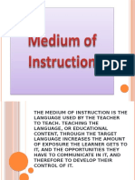 Medium of Instruction