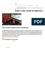 How to Solve a 3x3x3 Rubik's Cube for BEGINNERS