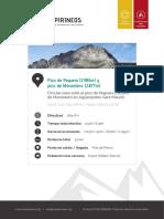 RUTAS PIRINEOS Pico de Peguera y Pico de Monestero Es