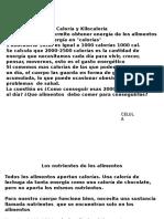 Calorias Version 2