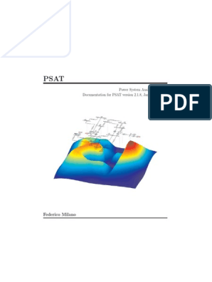 Psat 20130106 Comment | Electric Generator | Matlab