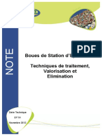 Boues de Step Traitement Valorisation e Limination