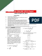 April 2013 Paper