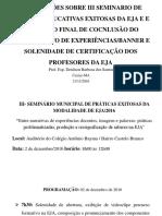 Orientações III Seminario de Práticas Educativas Exitosas Tfc Banner(1)