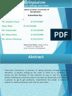 E commerce Presentation report