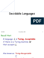 Decidable Languages