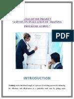 Ok -Evaluation of Training Programme Surendra