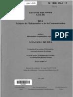 61510 Evaluation d Un Systeme d Information Pour Un Instrument de Pilotage Le Cas Du Service Evaluation Des Procedes Du Crit Rhone Poulenc Decines