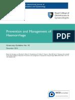 Hemorragia Post Parto RCOG 2016