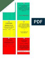 Tarjetas de Operatividad de Andamio - Ejemplo