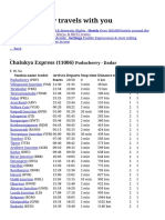 Chalukya Express Route, Time Table &Amp; Schedule 11006 _ Reservation for Chalukya Express From Puducherry to Dadar _ 11006