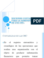 Nociones Contables Para La Administración de Una OSC