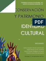 Conservación y Patrimonio Identidad Cultural