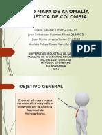 Mapa de Anomalia Magnética de Colombia