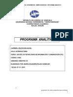 Programa Analitico-Maria Alejandra Rojas-Uso de Las TIC-Araure