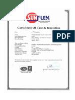 Certificate Water Hose Sunway