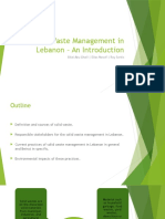 Solid Waste Management in Lebanon Introduction Assignmnt 1