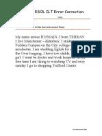 About Me Paragraph Error Correction