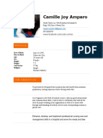 Camille Joy Amparo RESUME