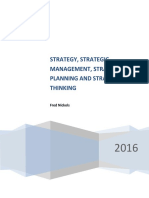 Strategy_Strategic Management_Strategic Planning & Strategic Thinking