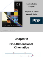 One Dimension Kinematics