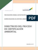 Directrices Proceso Certificacion Noviembre 2015