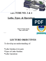 FMP-302 Lecture 3 4 Lathe, Types, Operations